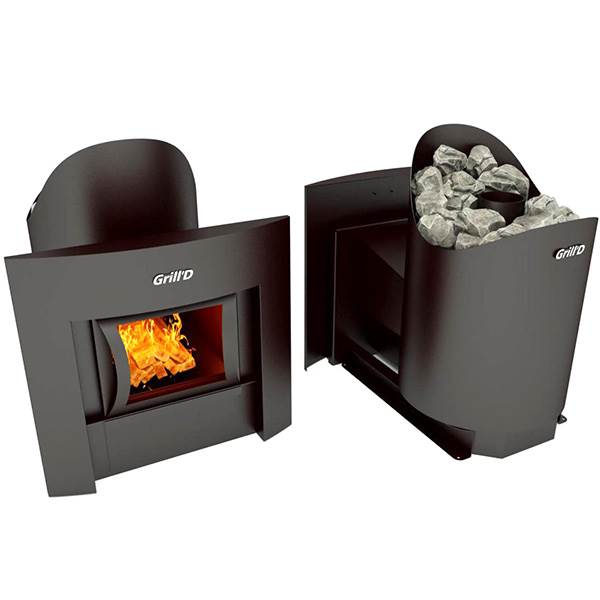 Печь для бани Grill D Aurora 160 (Window black) выносная топка
