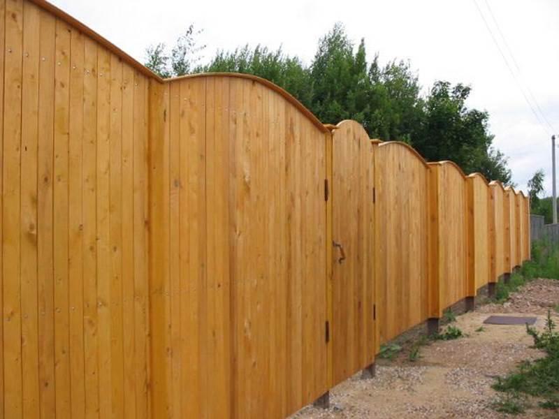 Деревянный забор №1