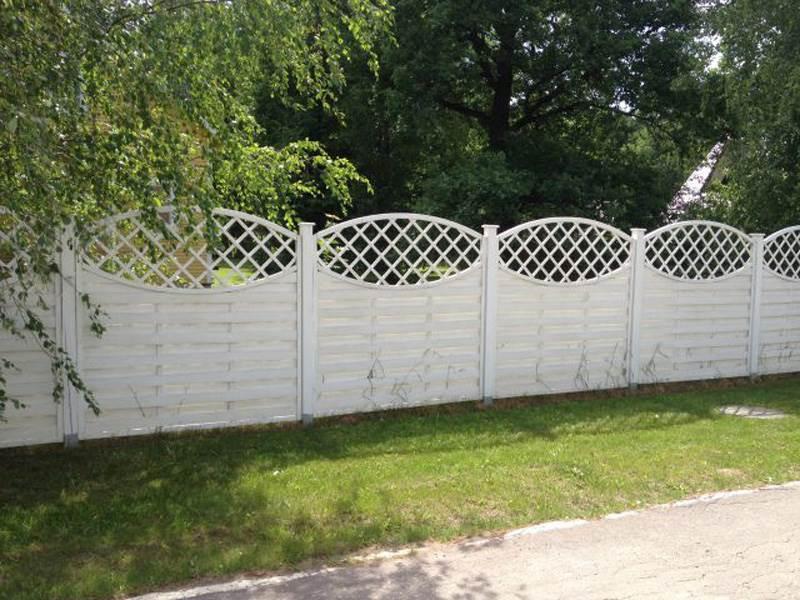 Деревянный забор №10