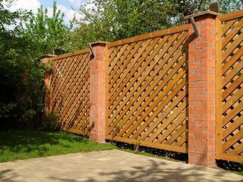 Деревянный забор №11