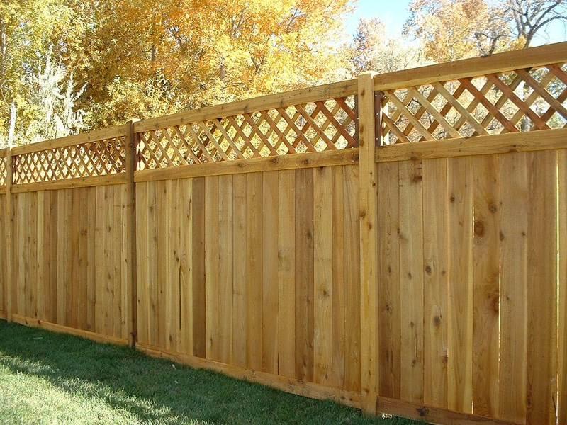 Деревянный забор №2