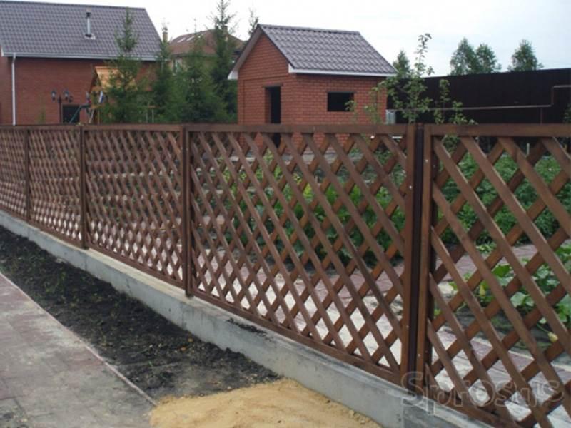 Деревянный забор №4
