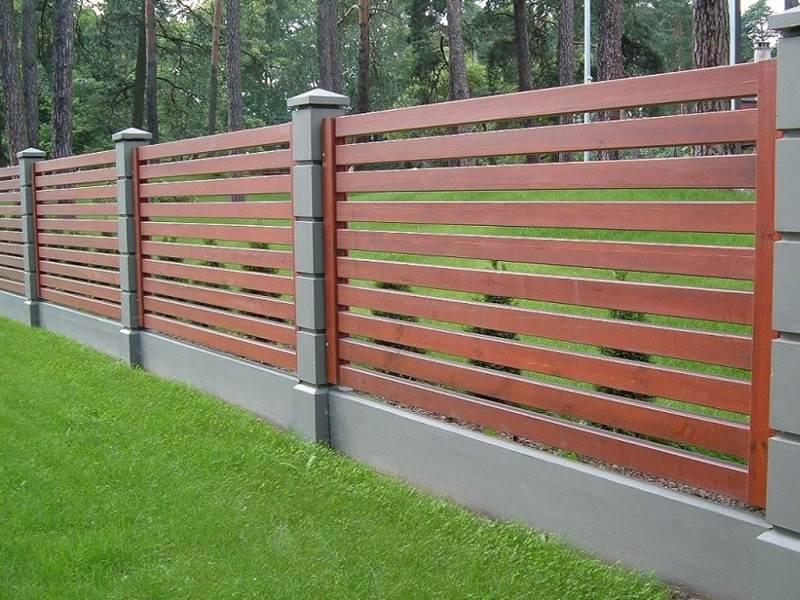 Деревянный забор №5
