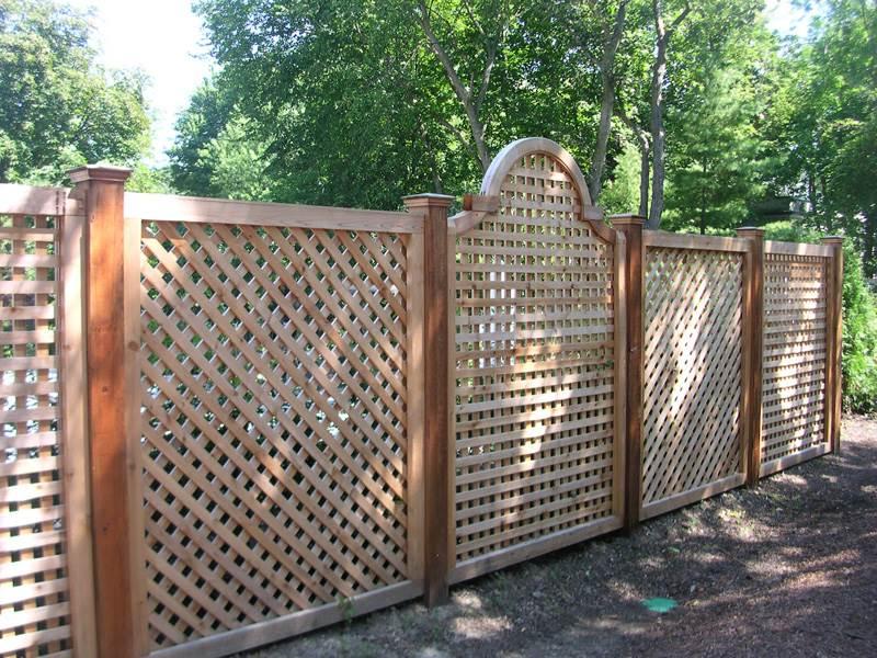 Деревянный забор №8